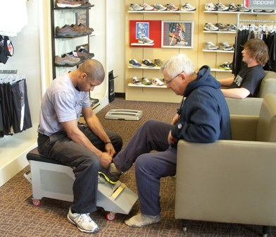 New Balance shoe fitting